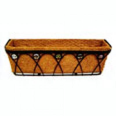 Балконный ящик (металлический) с кокосовым  вкладышем (30319)
