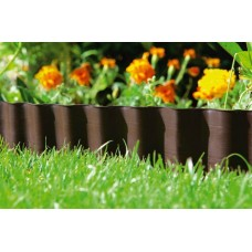 Бордюр огородно-газонный (10х9м) коричневый